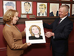 Kate Burton and Max Klimavicius attends the Sardi's Caricature Unveiling for Kate Burton joining the Legendary Wall of Fame at Sardi's on June 28, 2017 in New York City.