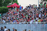 Boyds, MD - Saturday July 09, 2016: Fans during a regular season National Women's Soccer League (NWSL) match between the Washington Spirit and the Chicago Red Stars at Maureen Hendricks Field, Maryland SoccerPlex.