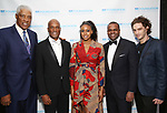 "Julius ""Dr. J"" Erving, Kenny Leon, Condola Rashad, Kasim Reed, Sebastian Vallentin Stenhøj attend the SDC Foundation presents The Mr. Abbott Award honoring Kenny Leon at ESPACE on March 27, 2017 in New York City."