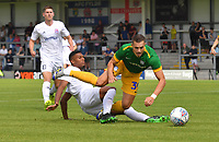 Preston North End's Billy Bodin is fouled in the area<br /> <br /> Photographer Dave Howarth/CameraSport<br /> <br /> Football Pre-Season Friendly - AFC Flyde v Preston North End - Saturday July 13th 2019 - Mill Farm - Flyde<br /> <br /> World Copyright © 2019 CameraSport. All rights reserved. 43 Linden Ave. Countesthorpe. Leicester. England. LE8 5PG - Tel: +44 (0) 116 277 4147 - admin@camerasport.com - www.camerasport.com