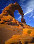 Arches National Park, UT<br /> South face of Delicate Arch in evening light