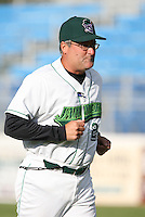 Charlie Corbell of the Jamestown Jammers, Class-A affiliate of the Florida Marlins, during New York-Penn League baseball action.  Photo by Mike Janes/Four Seam Images
