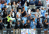 SAN DIEGO, CA - DECEMBER 02, 2012:  Fans of the University of North Carolina during the NCAA 2012 women's college championship match, at Torero Stadium, in San Diego, CA, on Sunday, December 02 2012. Carolina won 4-1.