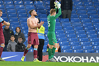David Martin of West Ham United and Robert Snodgrass of West Ham United At the Final Whistle Applause Fan's during Chelsea vs West Ham United, Premier League Football at Stamford Bridge on 30th November 2019
