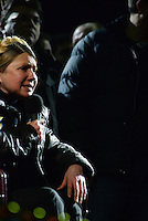 Yulia Tymoshenko is released from jail and brought to Maidan square where she takes a speech to Ukraine on her wheelchair.