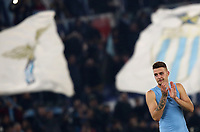 Football, Serie A: S.S. Lazio - Juventus Olympic stadium, Rome, December 7, 2019. <br /> Lazio's Sergej Milinkovic-Savic celebrates after winning 3-1 the Italian Serie A football match between S.S. Lazio and Juventus at Rome's Olympic stadium, Rome on December 7, 2019.<br /> UPDATE IMAGES PRESS/Isabella Bonotto