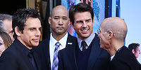 HOLLYWOOD, CA - DECEMBER 03: Ben Stiller, Tom Cruise, Jeffrey Katzenberg attending the Ben Stiller Hand/Footprint Ceremony held at TCL Chinese Theatre on December 3, 2013 in Hollywood, California. (Photo by Xavier Collin/Celebrity Monitor)