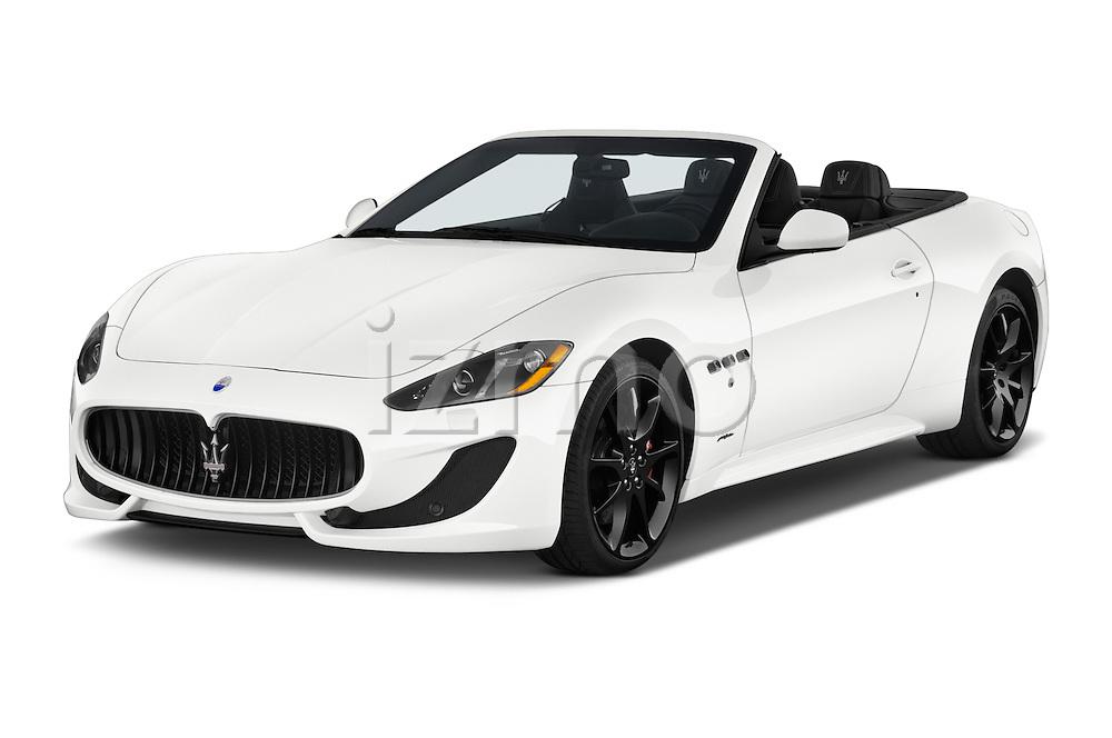 2014 Maserati GranTurismo Convertible Sport Door convertible Angular Front stock photos of front three quarter view
