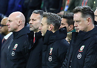 19th November 2019; Cardiff City Stadium, Cardiff, Glamorgan, Wales; European Championships 2020 Qualifiers, Wales versus Hungary; Ryan Giggs, Manager of Wales before kick off - Editorial Use