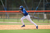 GCL Mets Federico Polanco (44) running the bases during a Gulf Coast League game against the GCL Marlins on August 11, 2019 at St. Lucie Sports Complex in St. Lucie, Florida.  GCL Marlins defeated the GCL Mets 3-2 in the second game of a doubleheader.  (Mike Janes/Four Seam Images)