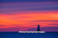 64795-01102 Ludington North Pierhead Lighthouse at sunset on Lake Michigan, Mason County, Ludington, MI
