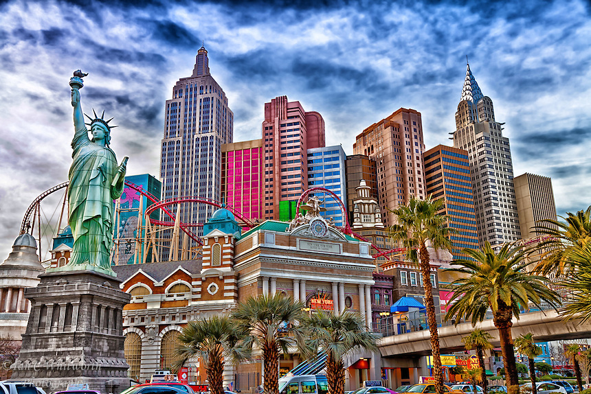 A view of New York, New York in Las Vegas