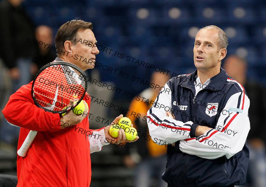 Tenis, Davis Cup 2010.Serbia Vs. France, final.Practice session.Team captain Guy Forget.Beograd, 30.11.2010..foto: Srdjan Stevanovic/Starsportphoto ©