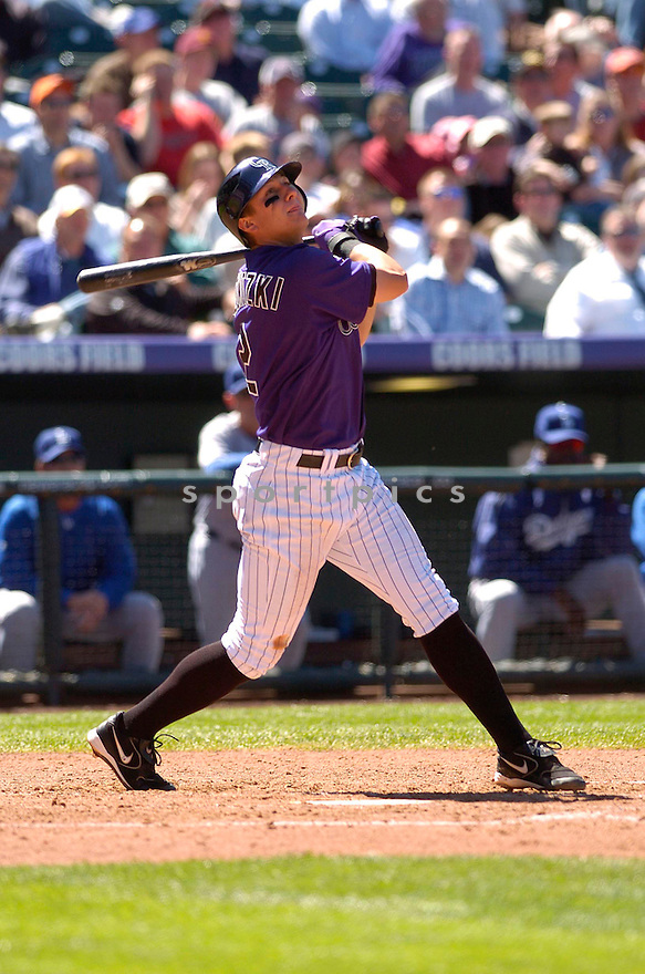 TROY TULOWITZKI, of the Colorado Rockies, in action during the Rockies game against the Los Angeles Dodgers in Denver, Colorado on April 19, 2007...Dodger win 8-1...DAVID DUROCHIK / SPORTPICS..