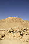 Dead Sea valley, the ancient settlement of Qumran, a pool
