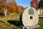 Griffin Mill Site during the autumn months in Auburn, New Hampshire USA.
