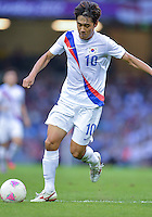 August 10, 2012..South Korea's Park Chu-young in action during bronze medal match at the Millennium Stadium on day fourteen in Cardiff, England. Korea defeat Japan 2-0 to win Olympic bronze medal in men's soccer. ..