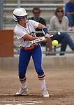 Wildcats' Makaylee Jaussi hits against Snow College at Edmonds Sports Complex in Carson City, Nev., on Friday, March 20, 2015. <br /> Photo by Cathleen Allison