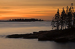 Sunrise in Schoodic Harbor off the Schoodic Peninsula in Acadia National Park, Maine