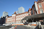 September 10, 2012, Tokyo, Japan - Works to restore Tokyo Station's red brick Marunouchi building t its original 1914 appearance near completion Monday, September 10, 2012, for the grand opening scheduled for October 1.  (Photo by Natsuki Sakai/AFLO) AYF -mis-