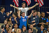 Hillary Clinton supporters celebrate as the State of Virginia is called for their candidate during Clinton's Election Night Event at the Jacob K. Javits Convention Center in New York, New York on Tuesday, November 8, 2016.<br /> Credit: Ron Sachs / CNP