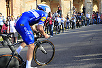 Florian Senechal (FRA) Deceuninck-Quick Step on the San Luca climb during Stage 1 of the 2019 Giro d'Italia, an individual time trial running 8km from Bologna to the Sanctuary of San Luca, Bologna, Italy. 11th May 2019.<br /> Picture: Eoin Clarke | Cyclefile<br /> <br /> All photos usage must carry mandatory copyright credit (© Cyclefile | Eoin Clarke)