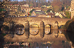 A1X0X3 Bridge reflection Bradford on Avon Wiltshire England