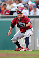 Lehigh Valley IronPigs first baseman Andy Tracy during a game vs. the Buffalo Bisons at Coca-Cola Field in Buffalo, New York;  August 1, 2010.  Buffalo defeated Lehigh Valley 2-1 in 10 innings.  Photo By Mike Janes/Four Seam Images