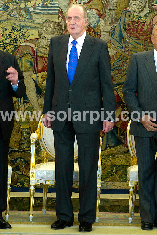 **ALL ROUND PICTURES FROM SOLARPIX.COM**                                             **WORLDWIDE SYNDICATION RIGHTS EXCEPT SPAIN - NO SYNDICATION IN SPAIN**                                                                                  King Juan Carlos of Spain, recieves a visit from D. Abel Matutes, chairman of the Board of Tourism, for it's 25th Anniversary, at Zarzuela Palace in Madrid.                                                                   .This pic:      King Juan Carlos of Spain                                                                                        JOB REF:    14200    DMS Dolores      DATE:  17.11.11                                                          **MUST CREDIT SOLARPIX.COM OR DOUBLE FEE WILL BE CHARGED**                                                                      **MUST AGREE FEE BEFORE ONLINE USAGE**                               **CALL US ON: +34 952 811 768 or LOW RATE FROM UK 0844 617 7637**