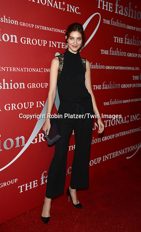 Kati Nescher attends the 31st Annual Night of Stars &quot;The Protagonists&quot;<br /> presented by The Fashion Grouip International on October 23, 2014 at Cipriani Wall Street in New York City. <br /> <br /> photo by Robin Platzer/Twin Images<br />  <br /> phone number 212-935-0770