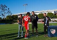 Carson, CA - July 16, 2016: In the 2016 U.S. Soccer Development Academy U-15/16 Championship Finals. FC Dallas defeated the LA Galaxy 2-0 at StubHub Center.