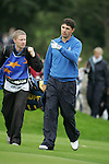 Ryder Cup 206 K Club, Straffin, Ireland...European Ryder cup team player Padraig Harrington walking onto the 6th green during the morning fourballs session of the second day of the 2006 Ryder Cup at the K Club in Straffan, Co Kildare, in the Republic of Ireland, 23 September 2006...Photo: Eoin Clarke/ Newsfile.