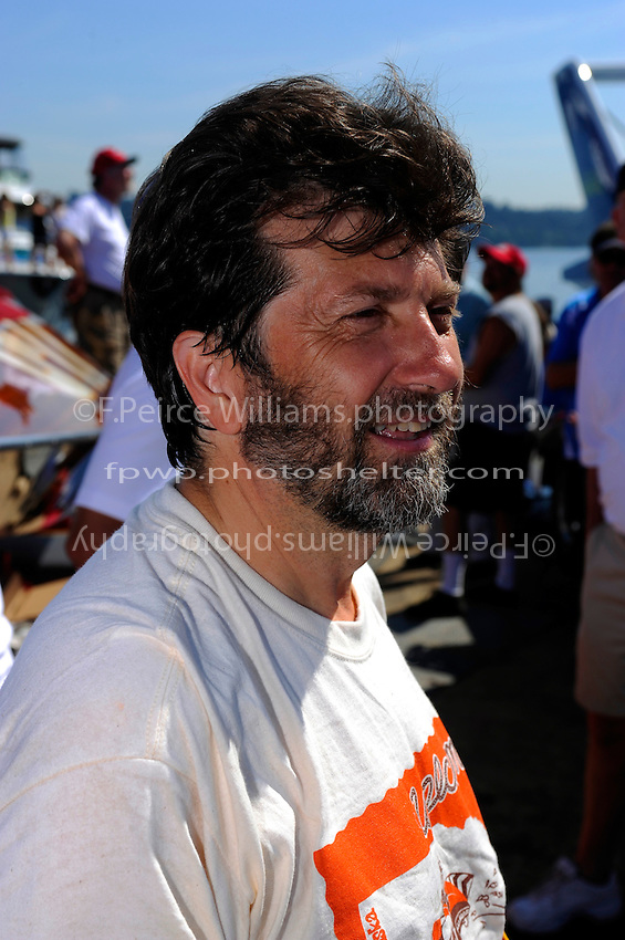 "David Williams, driver of both the U-9 ""Jones Racing"" and the U-77 ""Miss Wahoo"" (Replica of the vintage 1956 hull built in 2009)...1-2 August, 2009 Seattle, Washington USA..©2009 F.Peirce Williams USA.."
