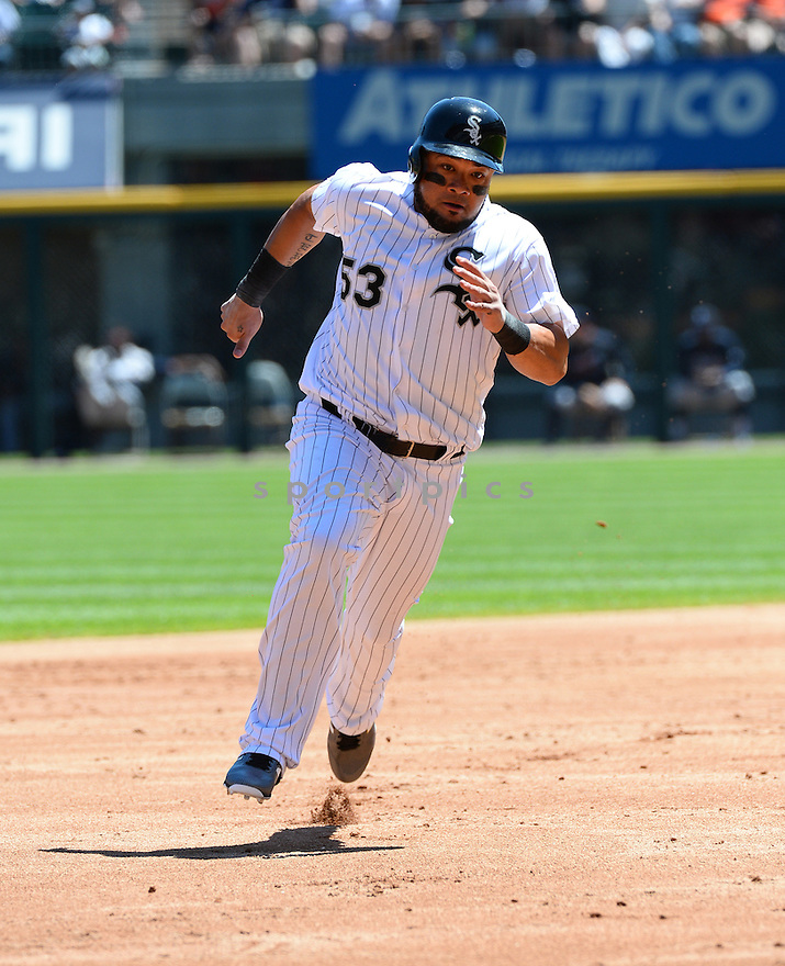Chicago White Sox Melky Cabrera (53) during a game against the Atlanta Braves on July 9, 2016 at US Cellular Field in Chicago, IL. The White Sox beat the Braves 5-4.