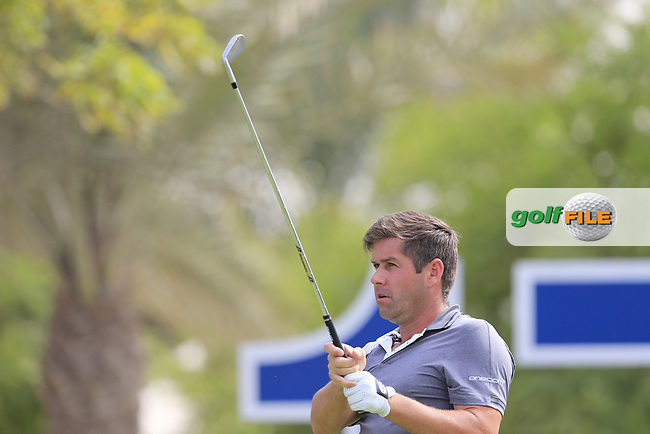 Robert Rock (ENG) on the 17th tee during the 3rd round of the DP World Tour Championship, Jumeirah Golf Estates, Dubai, United Arab Emirates. 17/11/2018<br /> Picture: Golffile | Fran Caffrey<br /> <br /> <br /> All photo usage must carry mandatory copyright credit (© Golffile | Fran Caffrey)