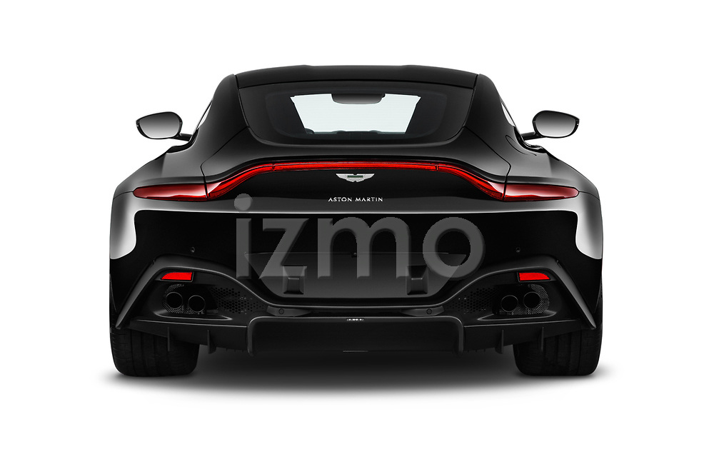 Straight rear view of 2018 Aston Martin Vantage - 2 Door Coupe Rear View  stock images