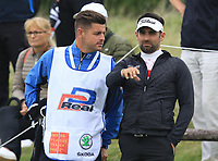 Lee Slattery (ENG) on the 5th green during Round 3 of the D+D Real Czech Masters at the Albatross Golf Resort, Prague, Czech Rep. 02/09/2017<br /> Picture: Golffile | Thos Caffrey<br /> <br /> <br /> All photo usage must carry mandatory copyright credit     (&copy; Golffile | Thos Caffrey)