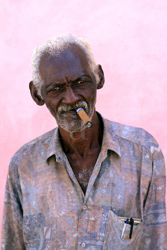 Portrait of Man with Cigar Havana, Cuba