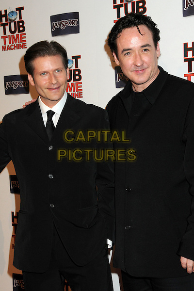 "CRISPIN GLOVER & JOHN CUSACK.""Hot Time Time Machine"" World Premiere Party held at the Cabana Club, Hollywood, California, USA..March 17th, 2010.half length black suit coat jacket .CAP/ADM/BP.©Byron Purvis/AdMedia/Capital Pictures."