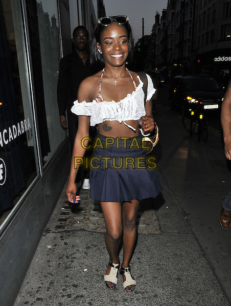 LONDON, ENGLAND - JULY 23: Azealia Banks attends the French Connection a/w 2015 new campaign launch party, French Connection, Oxford St., on Wednesday July 23, 2014 in London, England, UK. <br /> CAP/CAN<br /> &copy;Can Nguyen/Capital Pictures