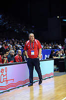 Syria head coach Veselin Matic during the FIBA World Cup Asia qualifier between the New Zealand Tall Blacks and Syria at TSB Bank Arena in Wellington, New Zealand on Sunday, 2 December 2018. Photo: Dave Lintott / lintottphoto.co.nz