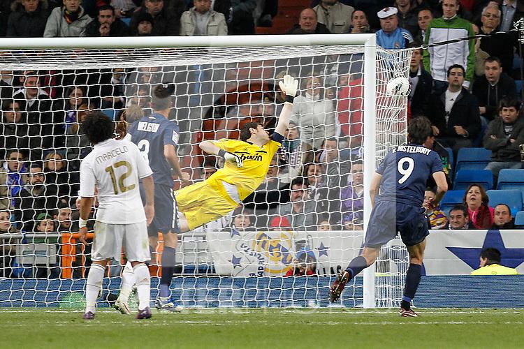 Malaga's Santiago Carzorla goal during la Liga match on march 18th 2012...Photo: Alex Cid-Fuentes / ALFAQUI