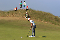 Rowan Lester (Hermitage) on the 15th green during Round 4 of the East of Ireland Amateur Open Championship 2018 at Co. Louth Golf Club, Baltray, Co. Louth on Monday 4th June 2018.<br /> Picture:  Thos Caffrey / Golffile<br /> <br /> All photo usage must carry mandatory copyright credit (&copy; Golffile | Thos Caffrey)