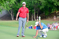 Jon Rahm (ESP) after sinking his putt on 18 during round 7 of the World Golf Championships, Dell Technologies Match Play, Austin Country Club, Austin, Texas, USA. 3/26/2017.<br /> Picture: Golffile | Ken Murray<br /> <br /> <br /> All photo usage must carry mandatory copyright credit (&copy; Golffile | Ken Murray)