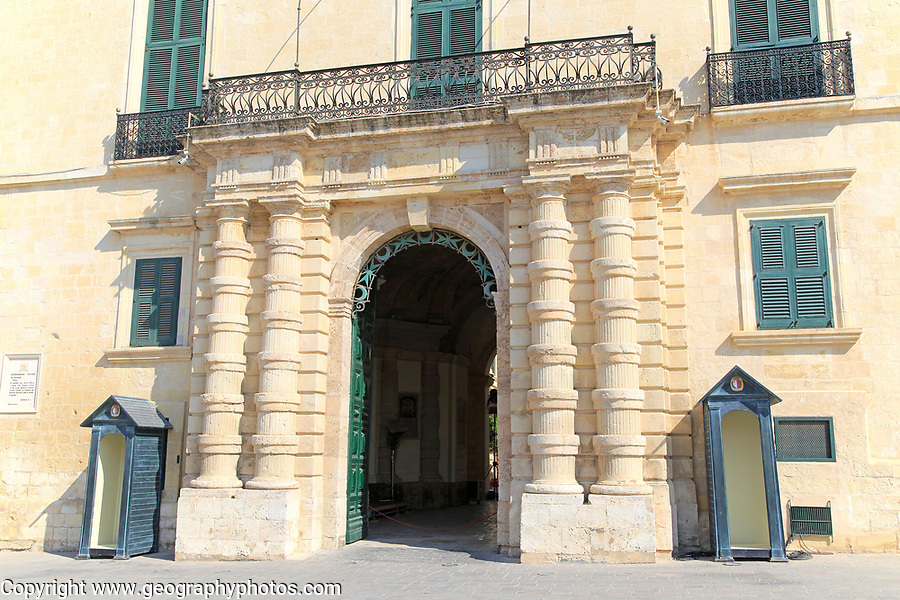Frontage of the Grand Master's Palace building, Saint George's Square, Valletta, Malta