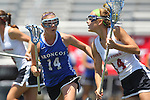 San Diego, CA 05/21/11 - Erin Quick (Rancho Bernardo #14) and Katie Trees (Torrey Pines #14) in action during the 2011 CIF San Diego Section Division 1 Championship game between Rancho Bernardo and Torrey Pines.