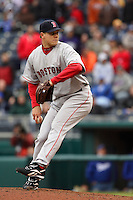 Red Sox RHP Jonathan Papelbon closes against the Royals at Kauffman Stadium in Kansas City, Missouri on April 5, 2007.  Boston won 4-1.