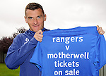 Lee McCulloch promotes ticket sales for the visit of an SPL team to Ibrox tomorrow