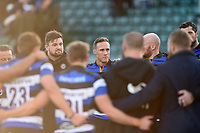 James Wilson of Bath Rugby looks on in a post-match huddle. Aviva Premiership match, between Bath Rugby and Harlequins on November 25, 2017 at the Recreation Ground in Bath, England. Photo by: Patrick Khachfe / Onside Images