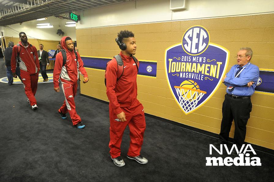 NWA Democrat-Gazette/Michael Woods --03/14/2015--w@NWAMICHAELW... University of Arkansas Razorbacks vs the Georgia Bulldogs in the 2015 SEC basketball tournament at Bridgestone Arena in Nashville.